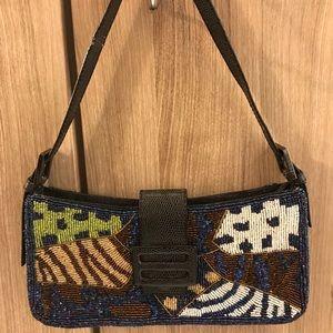 Fendi Baguette beaded multicolor shoulder bag